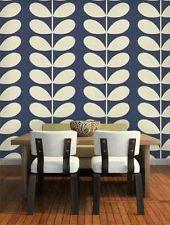 JOHN LEWIS ORLA KIELY HOUSE GIANT STEM WALLPAPER 110393 MIDNIGHT BLUE