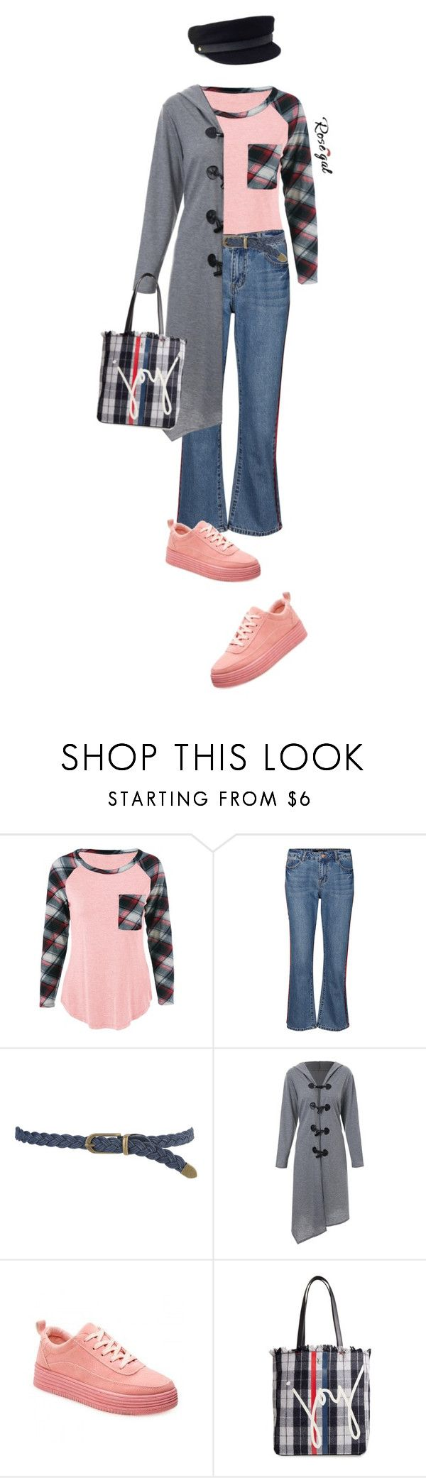 """""""Rosegal Plaid Pinted Items"""" by lence-59 ❤ liked on Polyvore featuring Vero Moda, Forever 21, ED Ellen DeGeneres and Janessa Leone"""