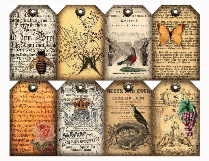 8 materiales efímeros primitivo Vintage Regalo/Colgar Etiquetas artesanías de papel Scrapbooking | Hogar y jardín, Tarjetas y suministros para fiestas, Más suministros para regalos y fiestas | eBay!