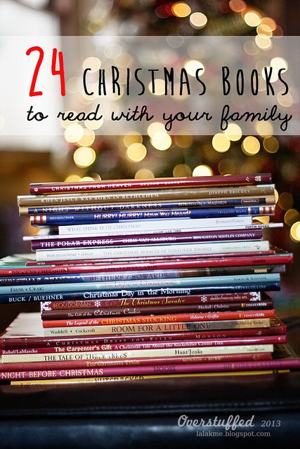 Great idea for a new Christmas tradition! Read a beautiful Christmas book every night during December—bring the spirit of Christmas into your life and home this holiday season! This is a wonderful list of books to read together. #overstuffedlife