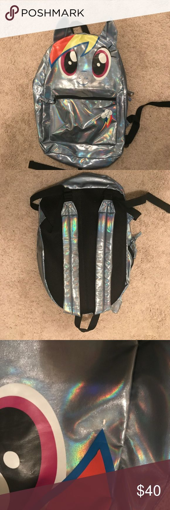 My Little Pony Metallic Backpack My Little Pony Metallic Backpack. Used condition. 2 small blemishes, see photos for details. My Little Pony Accessories Bags