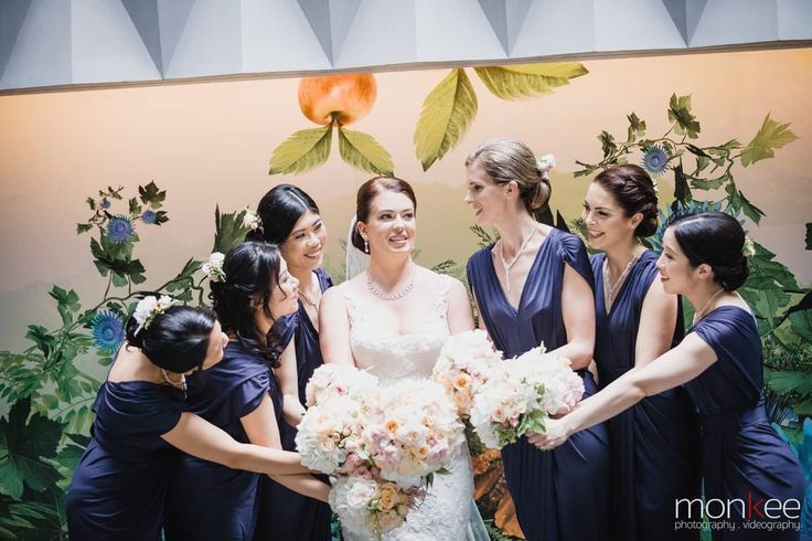 Bride and her gorgeous bridesmaids. Flowers and styling by Flowers With Elegance. Www.flowerswithelegance.net
