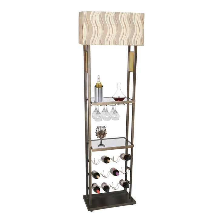 Van Teal 774562WR Bacchus Wine Rack Floor Lamp | ATG Stores