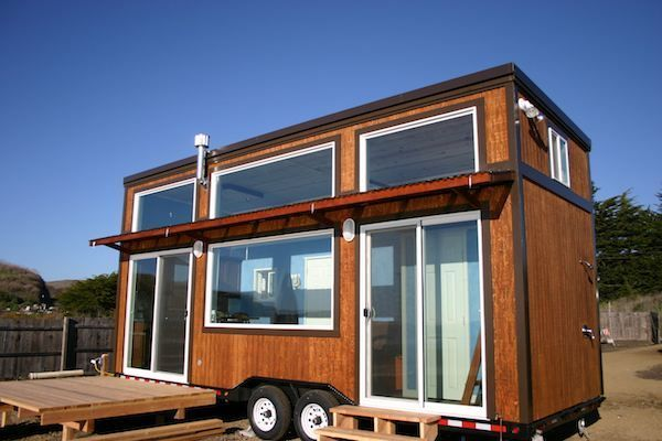 "I see very few flat roof (or very slightly arched) tiny house's, but it makes sense. I would use a low trailer, a 78"" ceiling below lofts and a elevated walk on one side between them. I have built large 4200' now want to do small but comfortable and capable of withstanding northern Canadian winters."