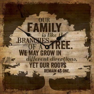Our Family Is Like the Branches Of A Tree Clock  -