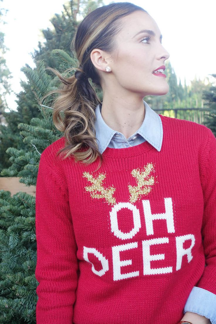 OH DEER + holiday sweater