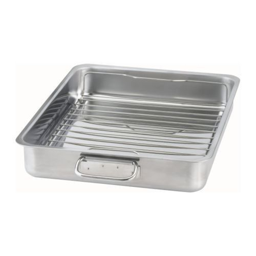 High Quality Stainless Steel Roasting Tin with Grill Rack-40x32 cm