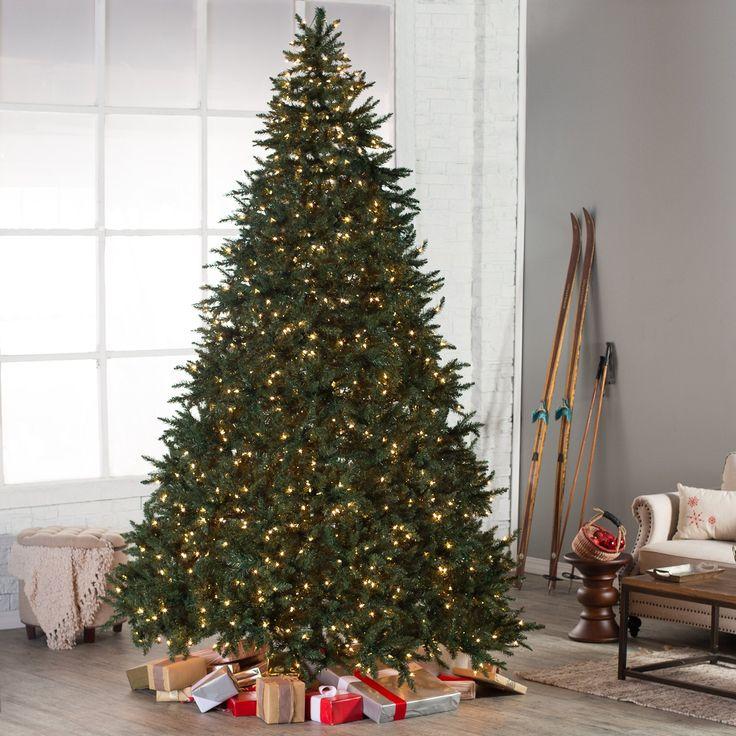 10 Pre Lit Christmas Tree Part - 34: Classic Pine Full Pre-lit Christmas Tree - 10 Ft