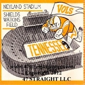 Tennessee football ticket drink coasters, Tennessee football coasters. http://www.footballweddinggifts.com/ football wedding gifts!