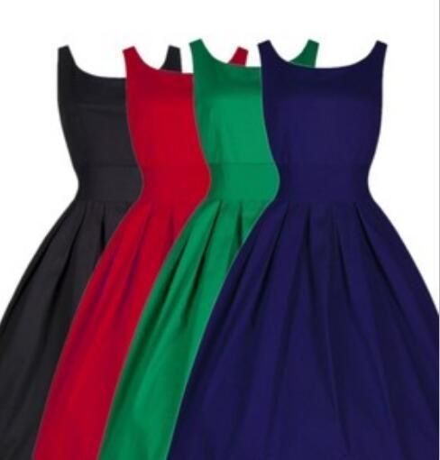 Audrey Hepburn Vintage 1950s Dresses For Women Casual Gowns Plus Size Fashion Elegant Evening Party Dress