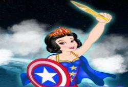 La malvada Maléfica ha mandado todos sus villanos a atacar a las princesas Disney para hacerse con su magia pero por suerte nosotras vamos a equipar a Elsa y Blancanieves con super trajes de superhéroes de Marvel.  Juega a este juego de vestir a Blancanieves y Elsa con ropa de superhéroes.