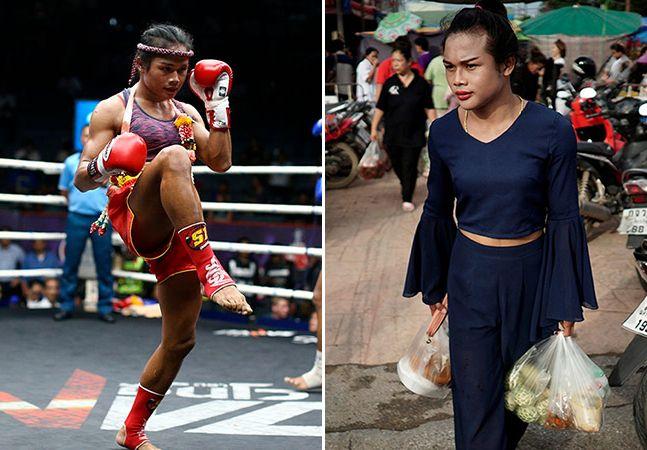 """Quando nasceu, há 21 anos, Rose foi registrada como Somros Polchareon. Hoje, rebatizada como Nong Rose Baan Charoensuk, é uma reconhecida lutadora transsexual de Muay Thai no seu país, a Tailândia. Rose luta desde os 8 anos de idade, por influência de um tio, e conta que precisou enfrentar muita resistência por parte dos seus adversários, que não admitiam lutar contra ela. """"Eles falavam que seria constrangedor independentemente se ganhassem ou perdessem"""", disse à Reuters. A lutadora já conta…"""