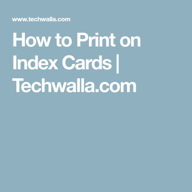 how to print on an index card in word