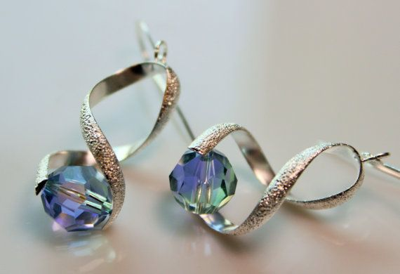 Earrings with Lavender and Chrysolite Blend by OllieBooJewelry, $12.00
