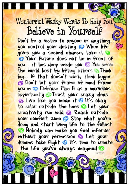 Believe in Yourself by Suzy Toronto
