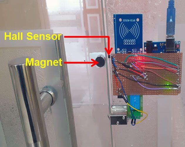 Rfid Solenoid Door Lock Using Arduino In 2020 Rfid Arduino Arduino Arduino Robot