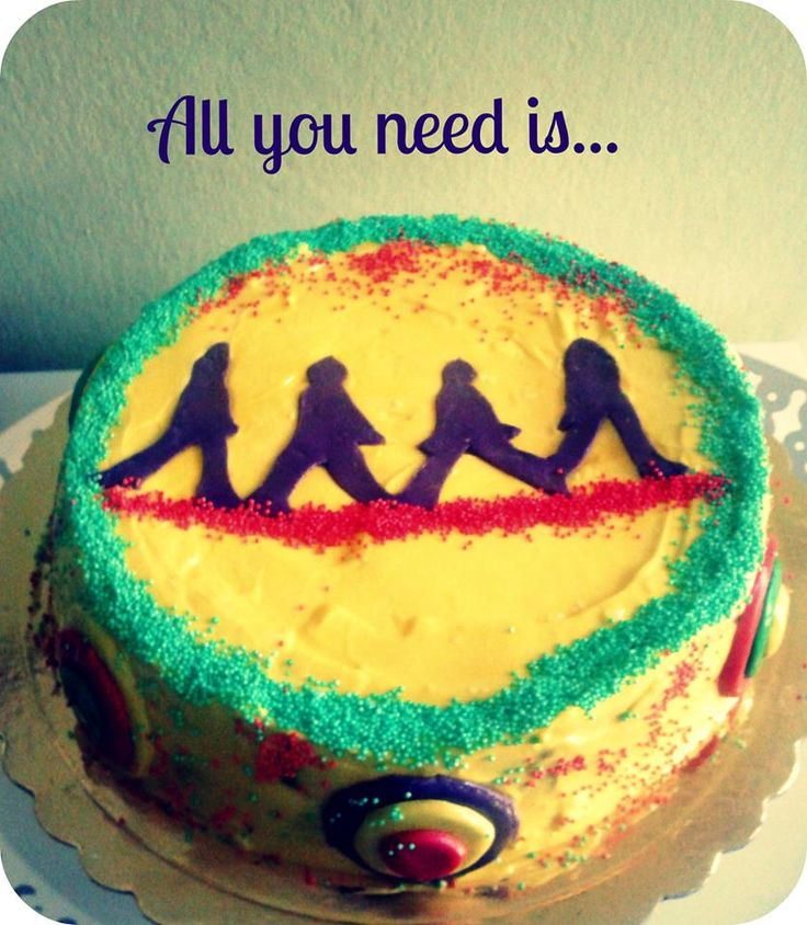 Rum Diaries cake (banana, rum, chocolate), custom made for a Beatles fan. www.ibakeyourpardon.com