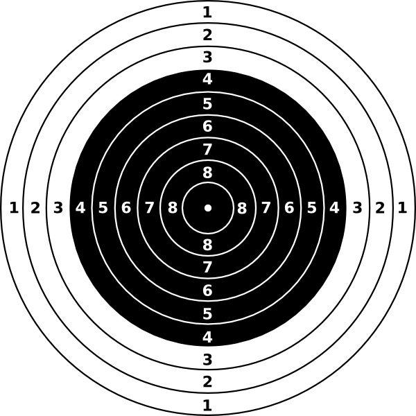 rifle shooting targets printable | Air Rifle Target clip art - vector clip art online, royalty free ...