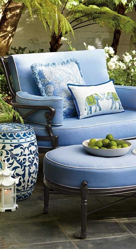A True Blue Summer: Embrace the Hue That's Always On-trend. Click for decorating tips!   Frontgate Blog