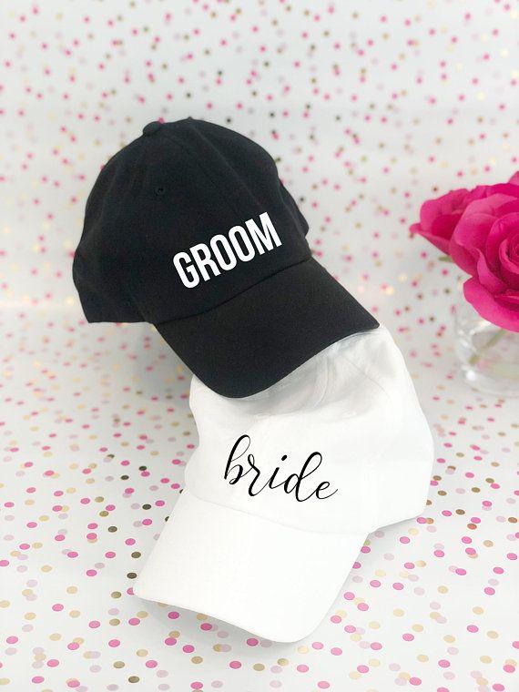 19aada77344e6 Hubby and Wifie Baseball Hats - Bride and Groom Hats - Honeymoon Hat - Mr  and Mrs Gifts - Wedding Gifts - Bride Gift - Bride Hat - Wifie Hat