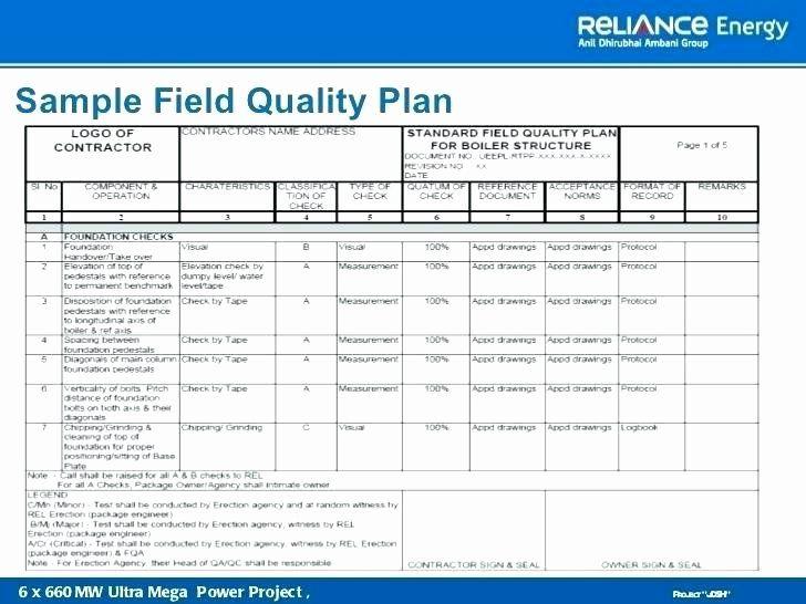 30 Quality Control Plan Template Construction Hamiltonplastering Program Template How To Plan Marketing Plan Template