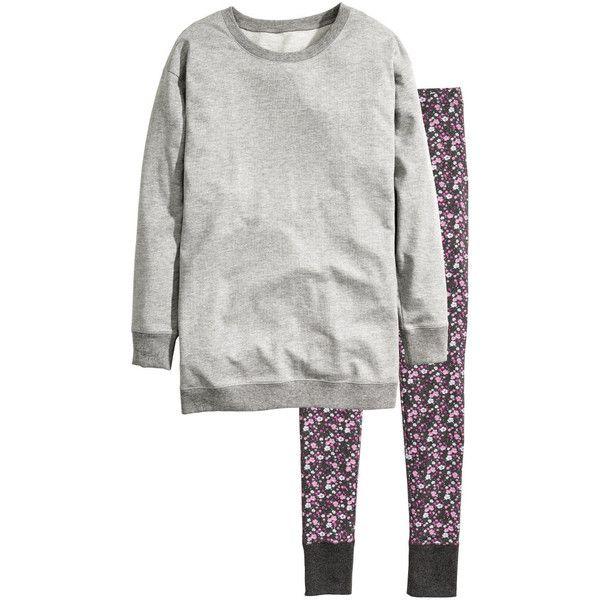 Pajamas with Top and Leggings $24.99 (78 BRL) ❤ liked on Polyvore featuring intimates, sleepwear, pajamas, long sleeve pajama set, long sleeve pyjamas, long sleeve pajamas and long sleeve sleepwear