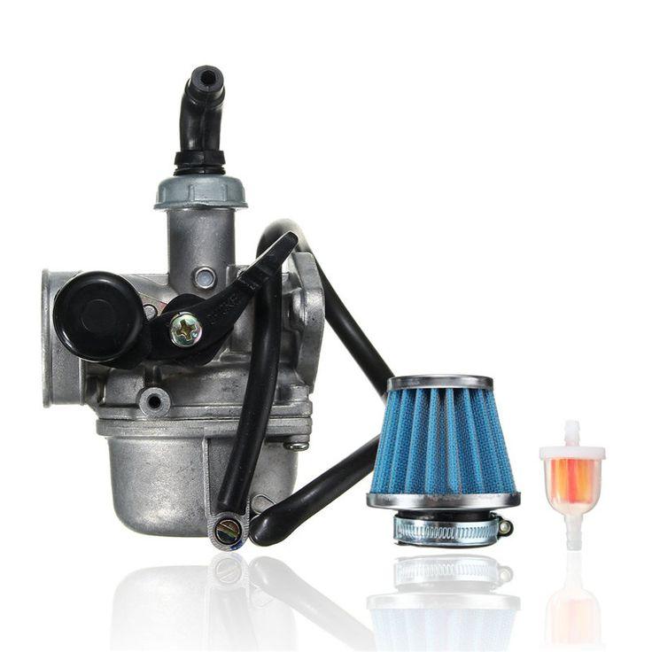 Carburetor Air Gas Filter For PZ19 50CC 90CC 110CC Lever ATV Go-Kart Dirt Bikes