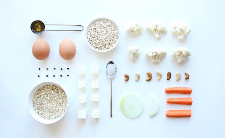 Les ingrédients pour réaliser une galette de quinoa, en accompagnement de plat ou à mettre dans les burgers.  Photo by Clémence Dubois