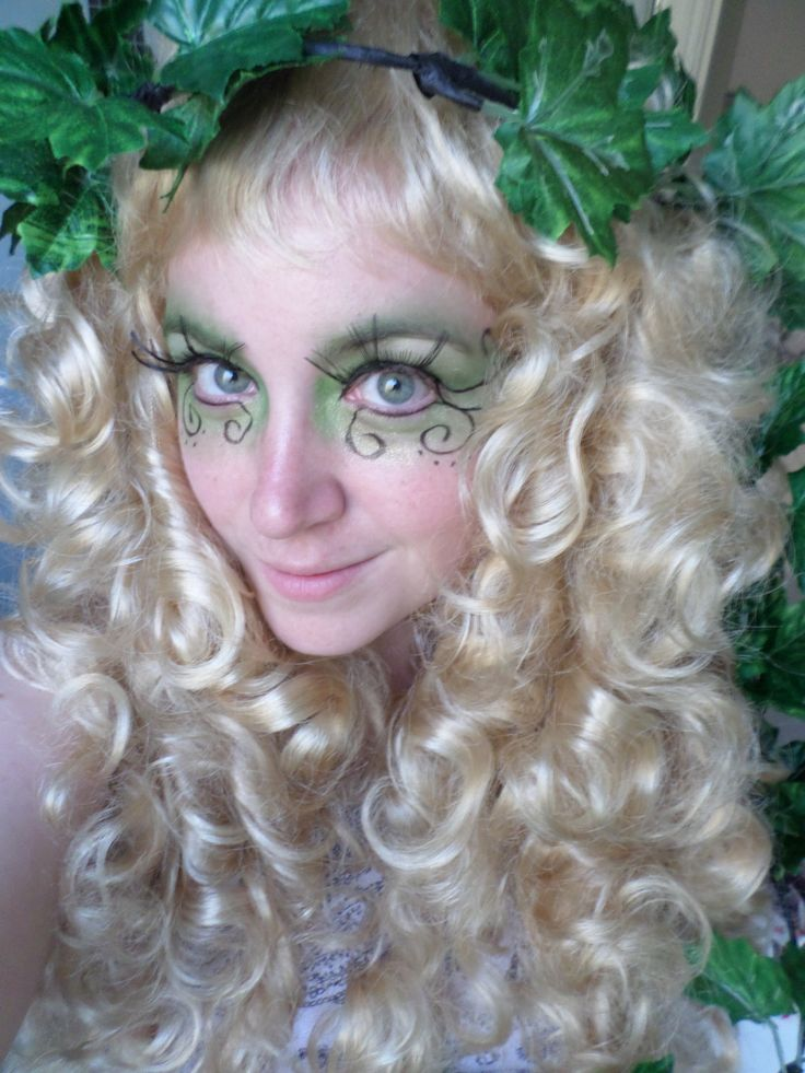 More practice on my hair and make-up. #faerie #fairy #LARP