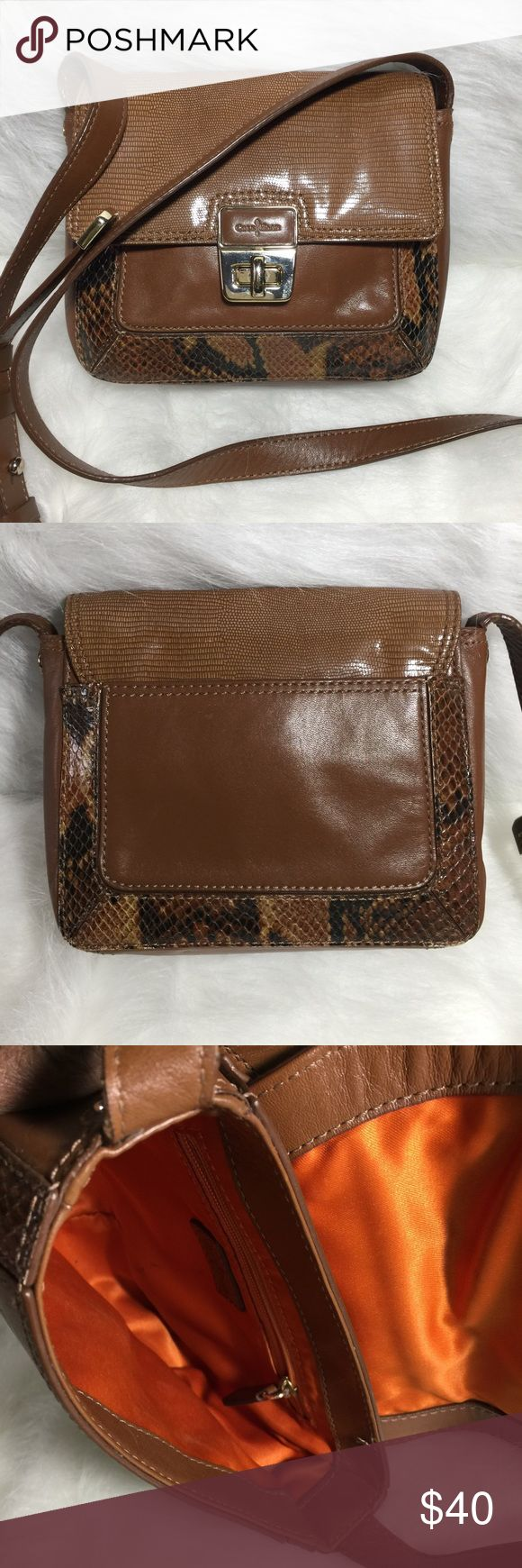 Cole Haan leather Cross-body purse Well taken care of Cole Haan purse, used a few times, inside clean. Cole Haan Bags Crossbody Bags
