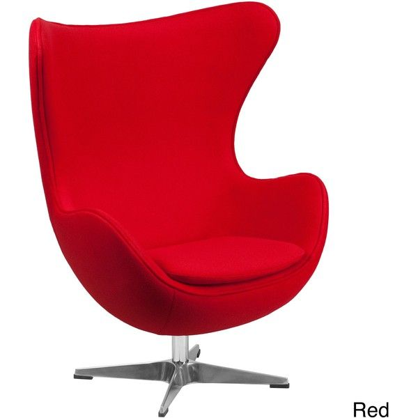 Flash Furniture Egg Chair with Tilt-Lock Mechanism ($353) ❤ liked on Polyvore featuring home, furniture, chairs, office chairs, red, red chair, red swivel chair, swivel chairs, chrome chairs and rocking chair