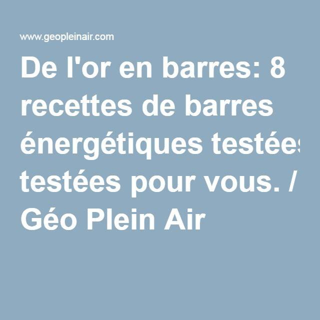 De l'or en barres: 8 recettes de barres énergétiques testées pour vous. / Géo Plein Air
