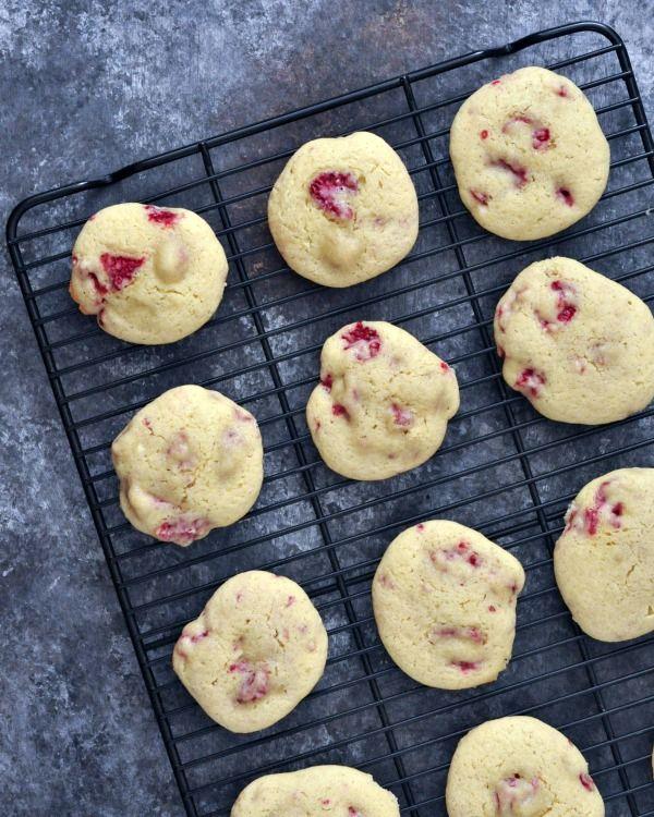 Raspberry Lemon Cheesecake Cookies Vegan Gluten Free @spabettie