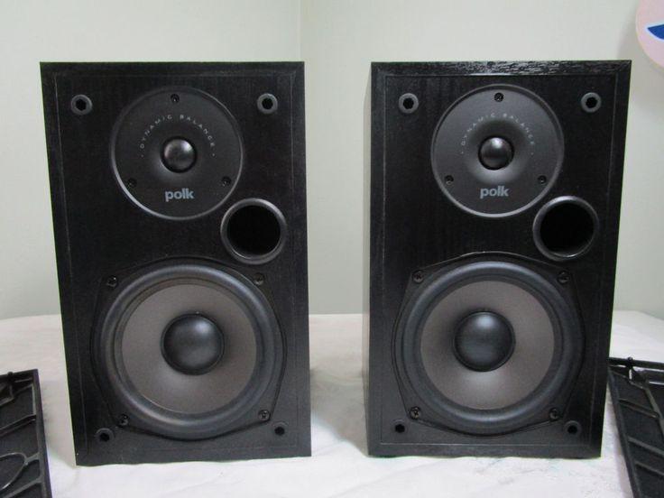 Polk Audio Pair Black Bookshelf Speakers RT5 #Polk  #polkaudio #bookshelfspeakers #speakers #rt5