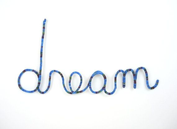 Hey, I found this really awesome Etsy listing at https://www.etsy.com/listing/212735480/mlk-blue-dream-wall-hanging-cursive-word