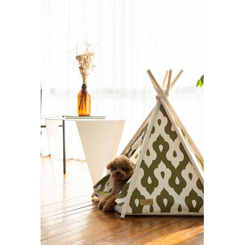 Huts and Bay Gusto Khaki Pet Teepee Tent