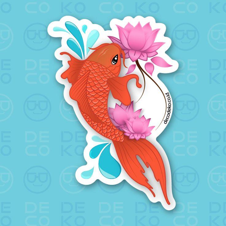 Sticker Koi Fish