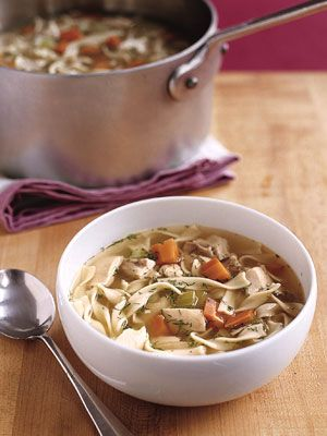 It may not be your Grandma's recipe, but this old-fashioned chicken soup will be on the table in just 30 minutes. Fresh dill gives it a twist. Get the recipe for Old-Fashioned Chicken Soup »  - GoodHousekeeping.com