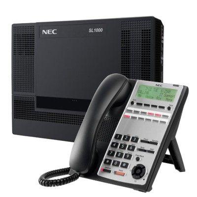 Centrala telefonica digitala NEC SL1000 cu 4 linii, 8 extensii si telefon digital