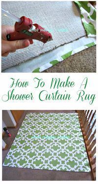Easy DIY Rugs and Handmade Rug Making Project Ideas - Shower Curtain Rug - Simple Home Decor for Your Floors, Fabric, Area, Painting Ideas, Rag Rugs, No Sew, Dropcloth and Braided Rug Tutorials http://diyjoy.com/diy-rugs-ideas #RugsMaking
