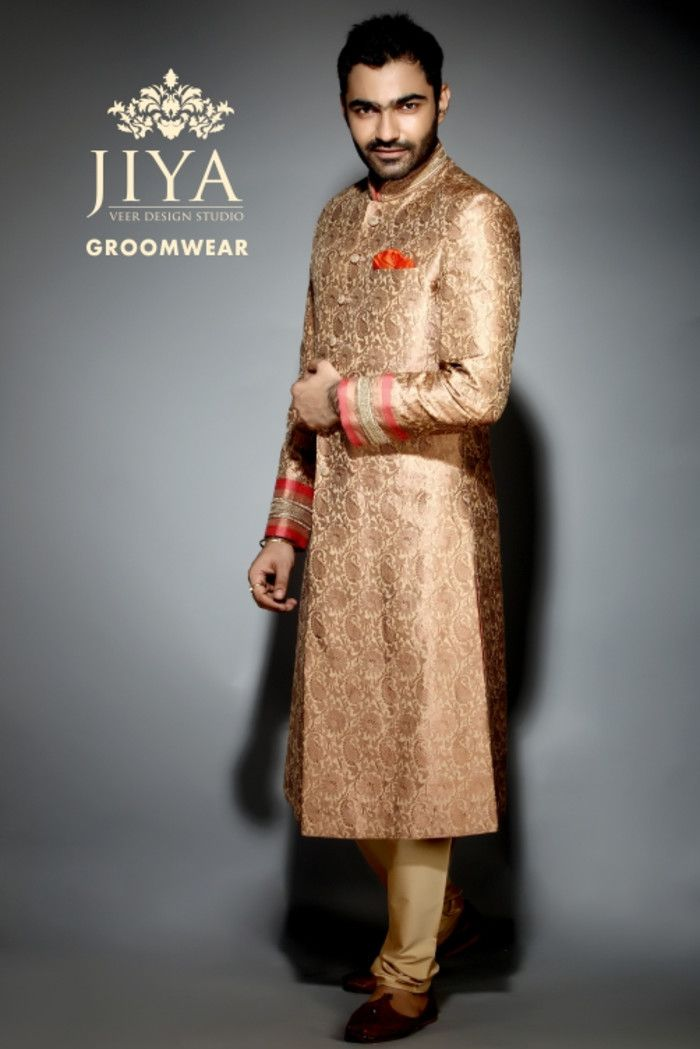 Groom Wear - Groom Wear Photos, , Gold Color, Groom Sherwani, Designer Groom Wear, Outfit Shots pictures.