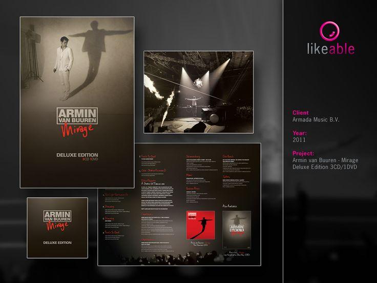 #LikeableDesign #MartijnKoudijs #GraphicDesign #CDCovers #CDDesign #Armada #ArminvanBuuren www.likeable.nl
