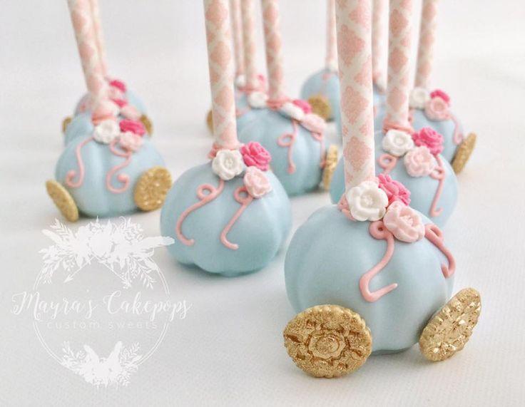 Cinderella's Coach Cake Pops