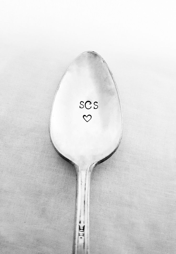 Monogram w/ Heart Spoon, Stamped Spoon, Custom Spoon, Personalized Spoon, Monogram, Gift for Her, Mom, Mother, Daughter, Birthday, Vintage by SweetMintHandmade on Etsy https://www.etsy.com/listing/278362786/monogram-w-heart-spoon-stamped-spoon
