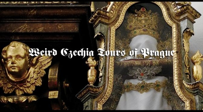 """See the most obscure things in Prague with Weird Czechia Tours. The Kryptic Prague Full Day Tour or a visit to Nekropilis """"The Dead City"""". #weirdczechia"""