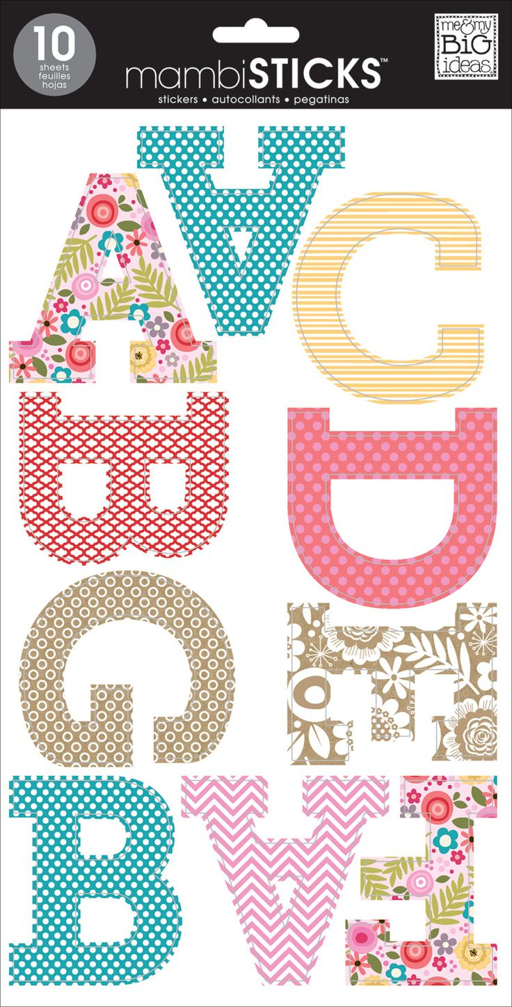 "These large alphabet stickers really know how to make a statement! Perfect for school projects, signs, papercrafting and more! Each package contains ten 7"" x 12"" sticker sheets with letters and number"