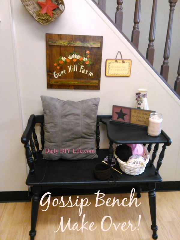 Gossip Bench Make Over! - A Trash to Treasure Story!
