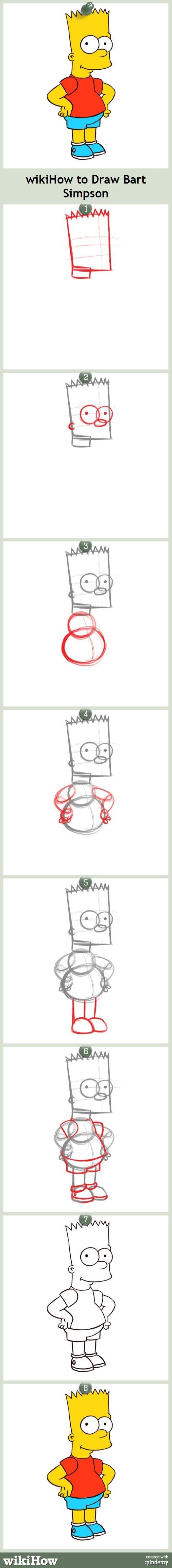 Ay, caramba! How to draw Bart Simpson! #simpsons #art #tutorial