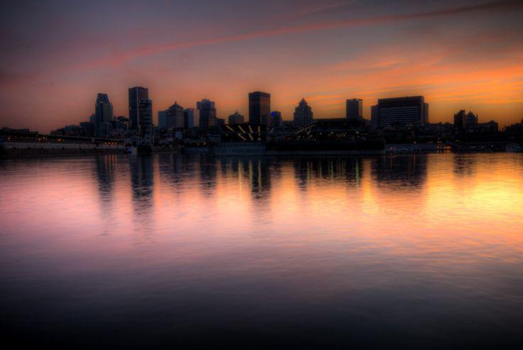 Sunset over Montreal skyline