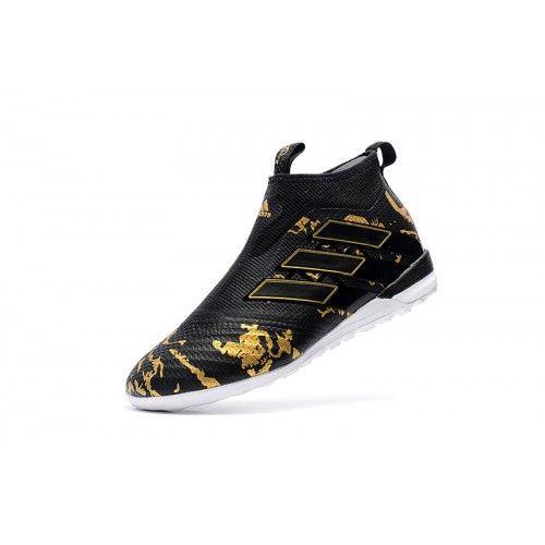 san francisco efd37 51b03 Adidas ACE - Scarpe Da Calcio Nuovo Adidas ACE Tango 17 Purecontrol IN Nero  Oro Sconto